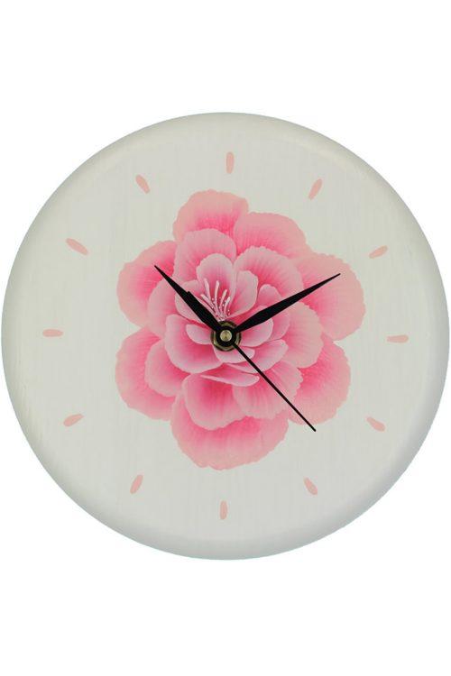 Rosa, orologio da parete in legno