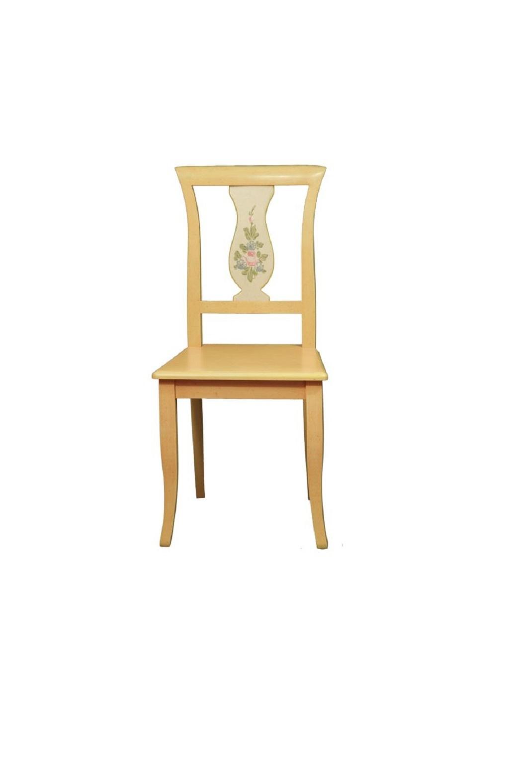 Sedia in legno decorata Nella