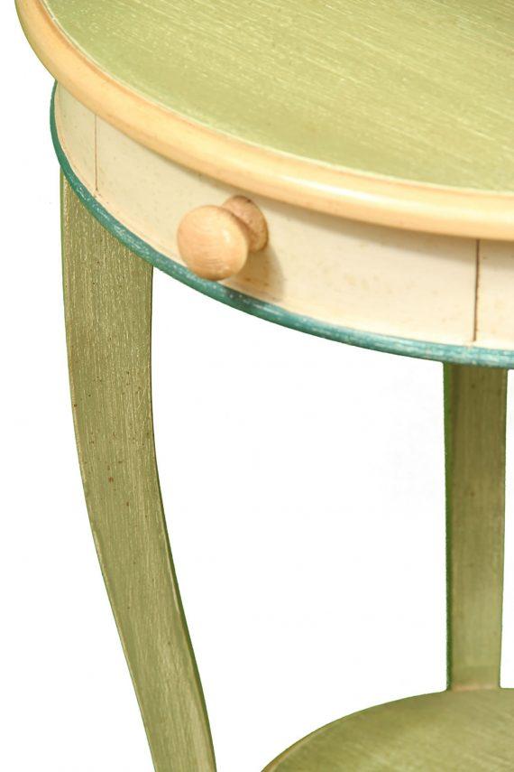 Tavolino rotondo in legno