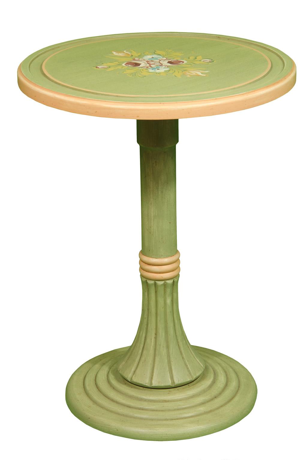 Tavolino rotondo legno