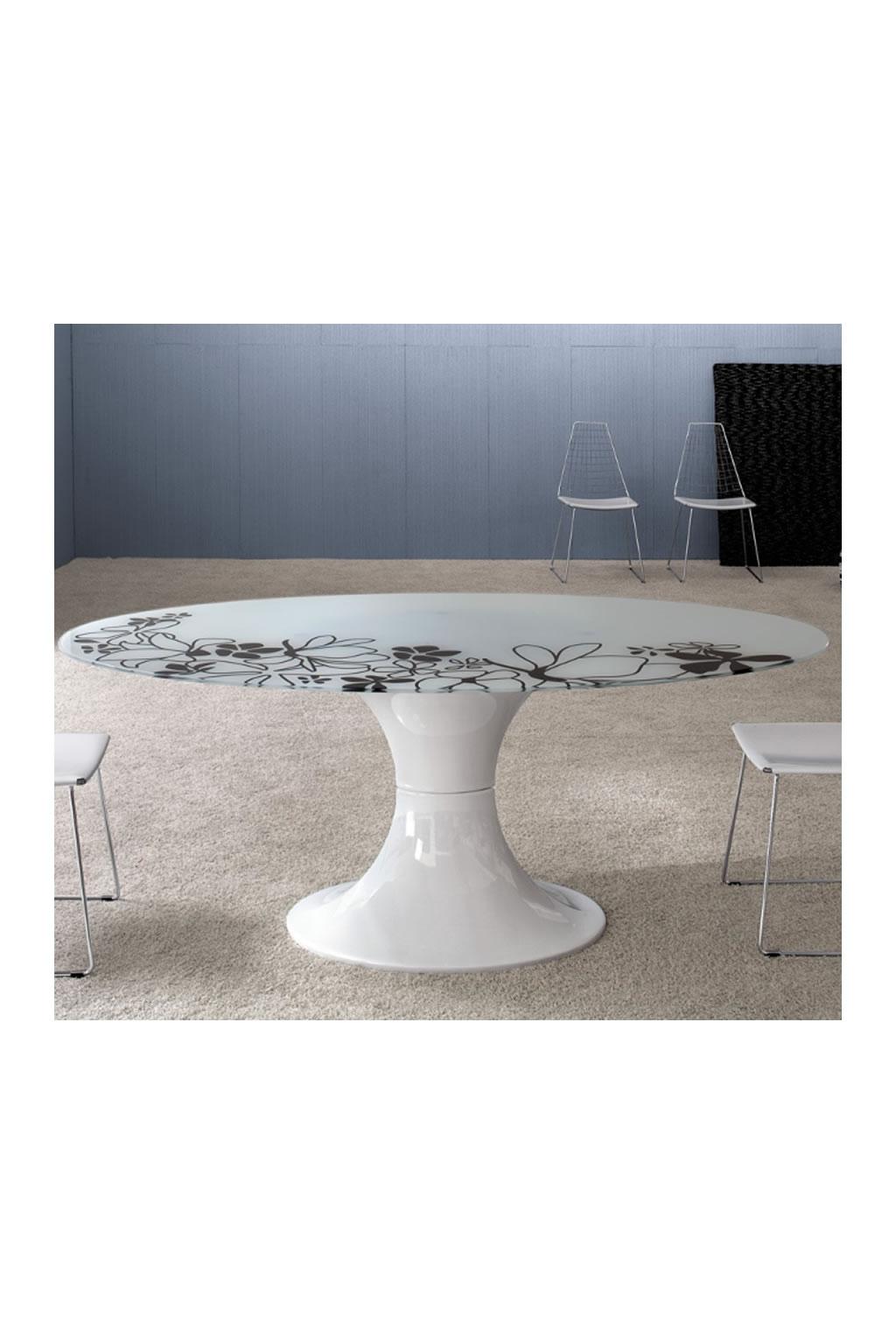 Tavolo ovale moderno petit decorosa - Tavolo in vetro ovale ...