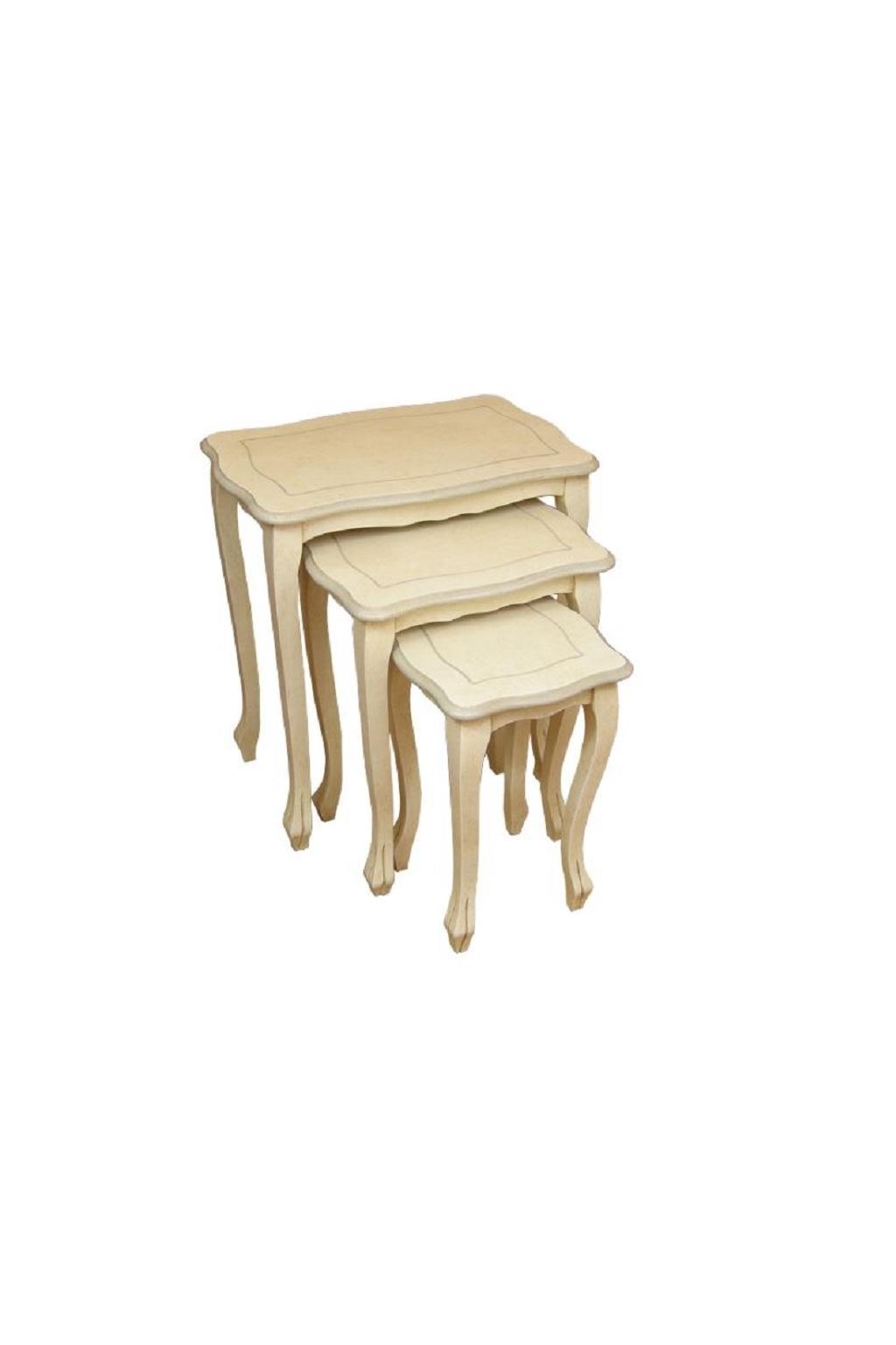 Tris tavolini in legno berl decorosa for Tavolini in legno