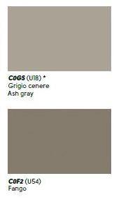 colori cuoio grigio cenere, fango