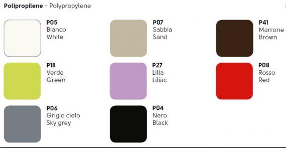 colori polipropilene