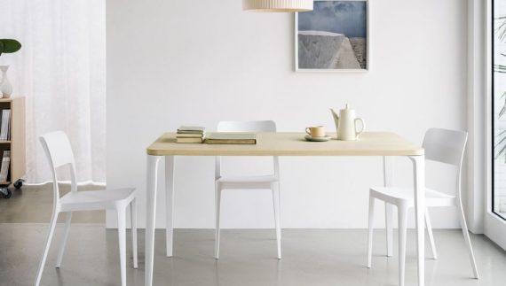 nenè rettangolare con sedie