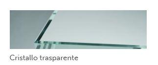 piano cristallo trasparente