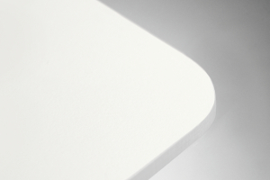 piano HPL bianco bordo bianco