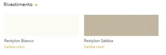 restylon bianco e sabbia