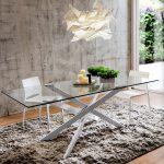 tavolo AIKIDO glass white canvas