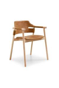 tuscan sedia in legno e cuoio