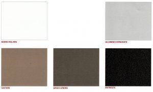 5 colori gambe tavoli