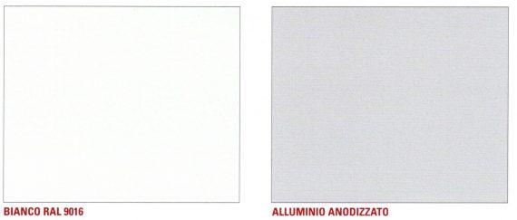 finitura gambe tavoli bianco e alluminio