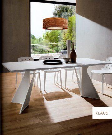 tavolo KLAUS bianco canvas