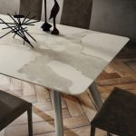 tavolo nicky laminam bianco statuario