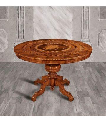 tavolo rotondo intarsiato San Giorgio canvas