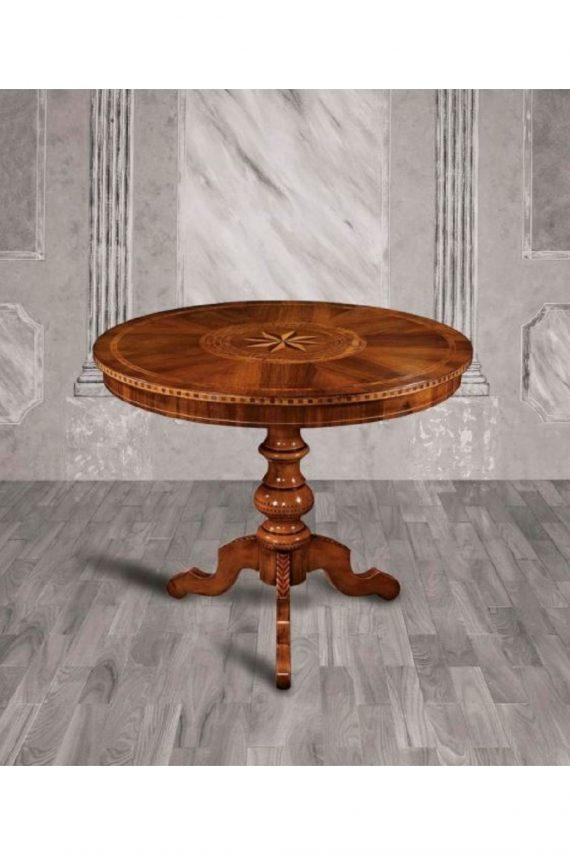 tavolo rotondo intarsiato levante canvas