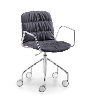 sedia imbittita con braccioli da scrivania Antea