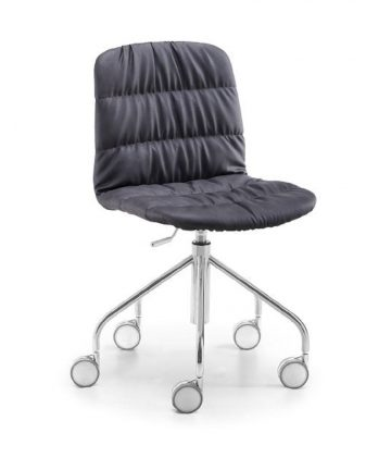 sedia imbottita con ruote da scrivania Antea