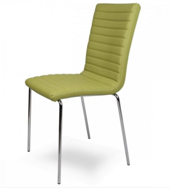 sedia moderna imbottita Vega green