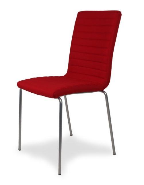 sedia moderna imbottita Vega red