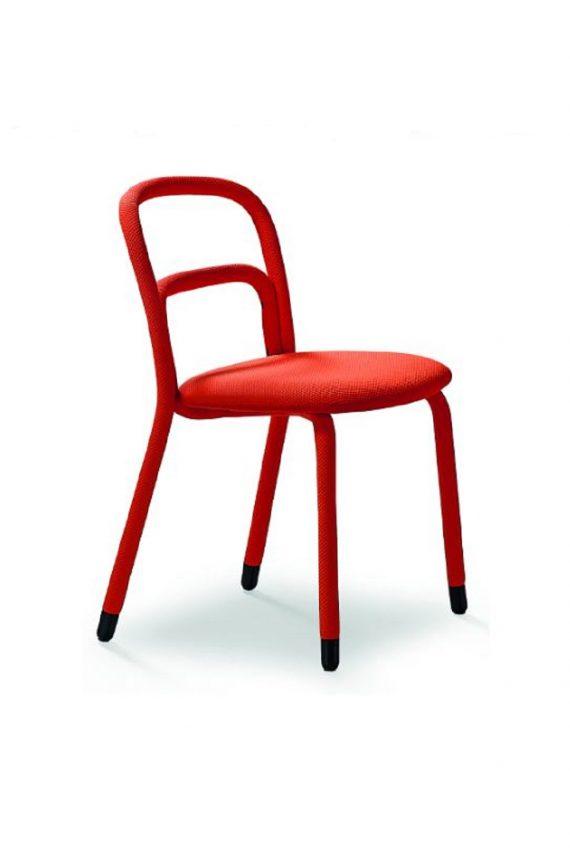 Point sedia rivestita in tessuto