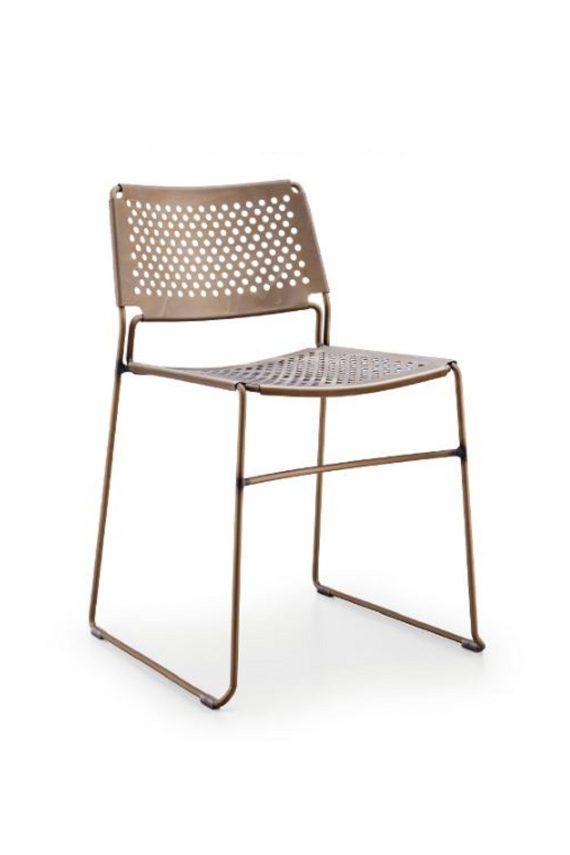 Style sedia in stile industrial in acciaio