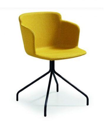 astrea sedia in tessuto con braccioli