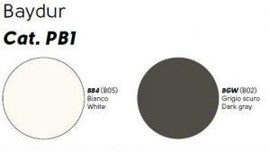 baydur bianco e grigio scuro