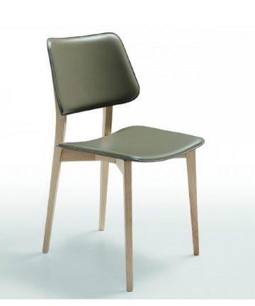 hilo sedia in legno e cuoio