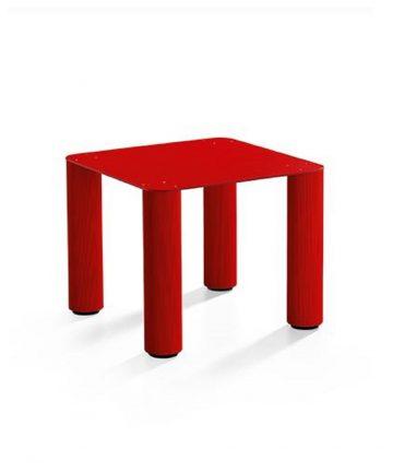 perseo S tavolino quadrato in acciaio