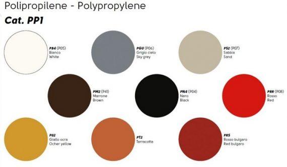 polipropilene colori