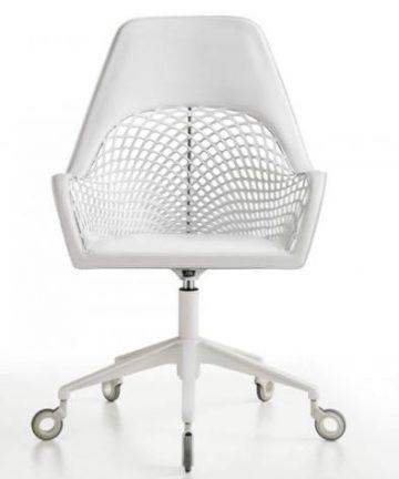 sedia a dondolo moderna Angel con schienale alto front