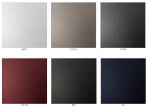 6 colori acciaio