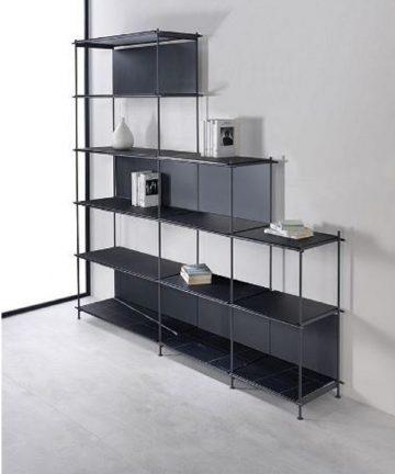 Loft 3 libreria in acciaio