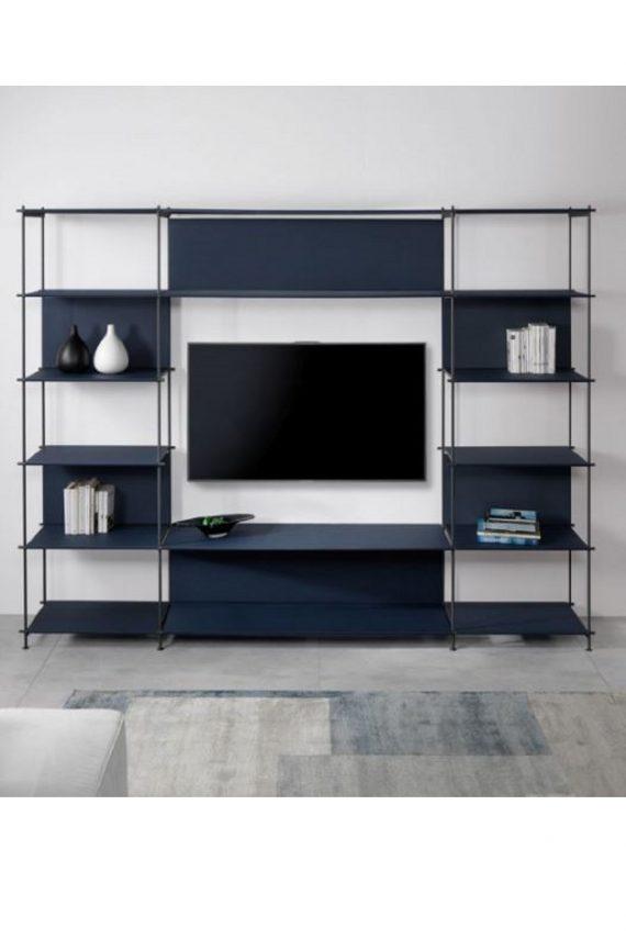 Loft TV libreria in acciaio portatv