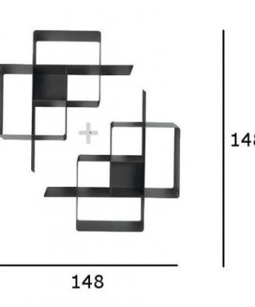 Random composizione libreria 2 moduli