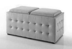 chester pouff grigio