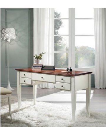 elite scrivania shabby con cassetti
