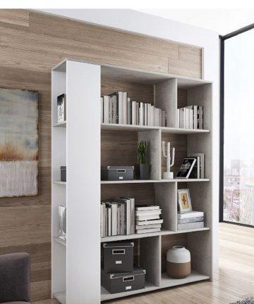 fly libreria moderna bianca cemento