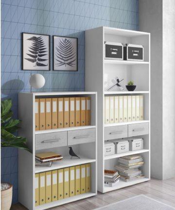 kasia libreria moderna con due cassetti