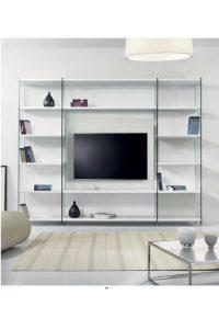 Big Eden libreria porta tv con struttura in vetro