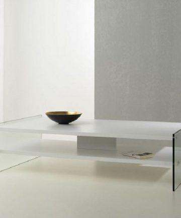 Big London tavolino rettangolare moderno bianco
