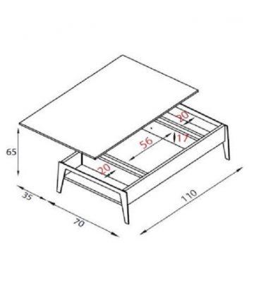 Big slide tavolino contenitore misure