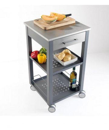 Cuisine S carrello da cucina con un cassetto