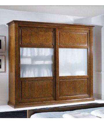 Diva armadio 2 ante scorrevoli con vetrine
