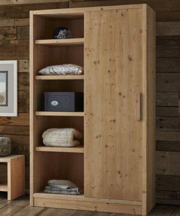 Dolomite armadio con libreria in legno di abete