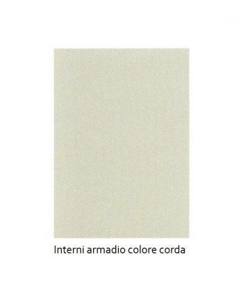Interni armadio colore corda