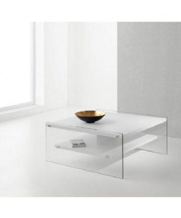 London tavolino quadrato bianco