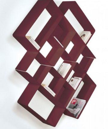 Rombus libreria a parete
