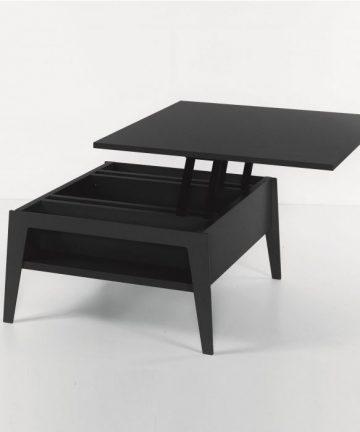 Slide tavolino contenitore nero